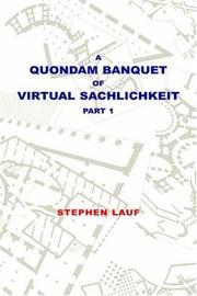 Cover of: A Quondam Banquet of Virtual Sachlichkeit