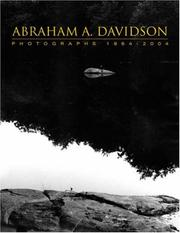 Cover of: Abraham A. Davidson Photographs 1964-2004