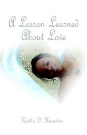 Cover of: A Lesson Learned About Love