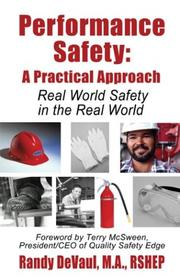 Cover of: Performance Safety