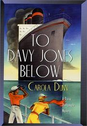 Cover of: To Davy Jones Below (Daisy Dalrymple #9)