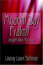 Cover of: Modern Day Psalms-Insight into My Soulaa