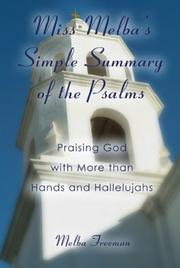 "Cover of: ""Miss Melba's"" Simple Summary of the Psalms"