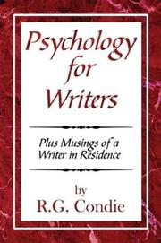 Cover of: Psychology for Writers | R. G. Condie Condie