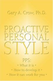 Cover of: Proactive Personal Style