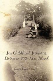 Cover of: My Childhood Memories Living on 700 Acre Island