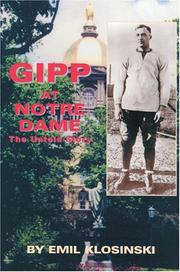Cover of: Gipp at Notre Dame: The Untold Story