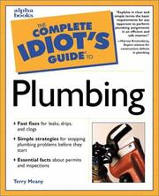 Cover of: The complete idiot's guide to plumbing