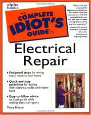 Cover of: The complete idiot's guide to electrical repair