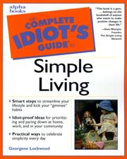 Cover of: The complete idiot's guide to simple living