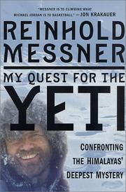 Cover of: My Quest for the Yeti