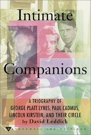 Intimate Companions by David Leddick