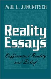 Cover of: Reality Essays | Paul L. Jungnitsch