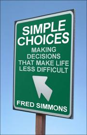 Cover of: Simple Choices
