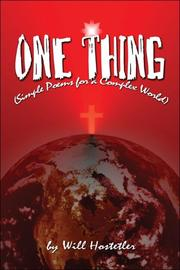 Cover of: One Thing | Will Hostetler