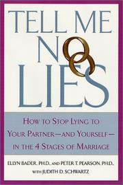 Cover of: Tell Me No Lies | Ellyn Bader Ph.D.