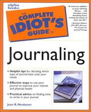 complete idiots guide to journaling