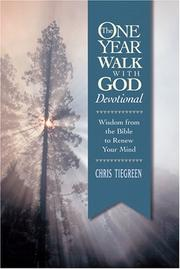 Cover of: one year walk with God devotional | Chris Tiegreen