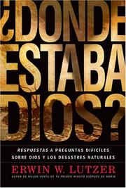 Cover of: Donde Estaba Dios?/Where Was God?