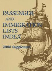 Passenger And Immigration Lists Index 2008