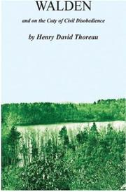 Cover of: Walden & Duty of Civil Disobedience | Henry David Thoreau