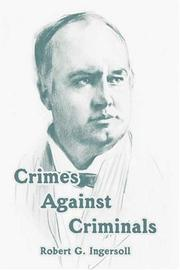 Cover of: Crimes Against Criminals