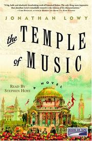 Cover of: The Temple of Music | Jonathan Lowy
