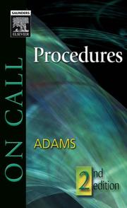 Cover of: On call procedures | Gregg A. Adams