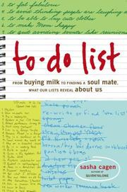 Cover of: To-Do List | Sasha Cagen