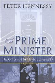 Cover of: The Prime Minister