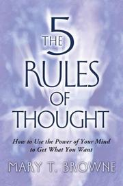 Cover of: The 5 Rules of Thought | Mary T. Browne