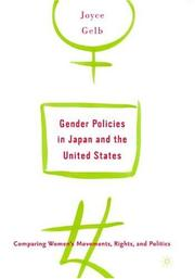 Cover of: Gender Policies in Japan and the United States
