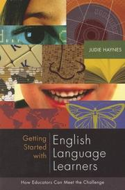 Cover of: Getting Started With English Language Learners