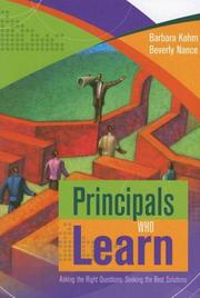Cover of: Principals Who Learn | Barbara Kohm