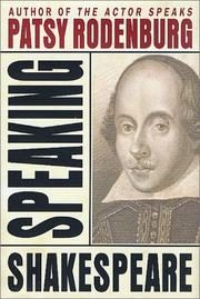 Cover of: Speaking Shakespeare
