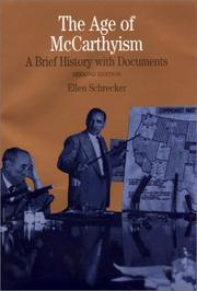 The age of McCarthyism by Ellen Schrecker