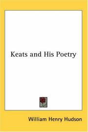 Cover of: Keats and his poetry