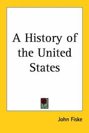 Cover of: A history of the United States: for schools