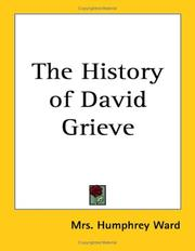 Cover of: The History of David Grieve | Mrs. Humphry Ward