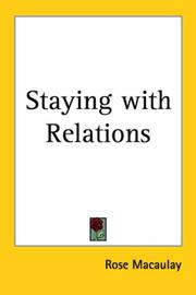 Cover of: Staying With Relations | Thomas Babington Macaulay