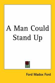 Cover of: A man could stand up