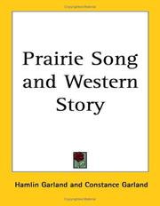 Cover of: Prairie song and western story