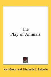 Cover of: The Play of Animals