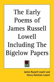 Cover of: The Early Poems of James Russell Lowell Including The Bigelow Papers