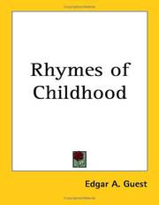 Cover of: Rhymes of Childhood | Edgar A. Guest