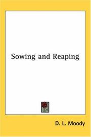 Cover of: Sowing and Reaping