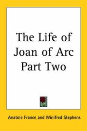 Cover of: The Life of Joan of Arc Part Two | Anatole France