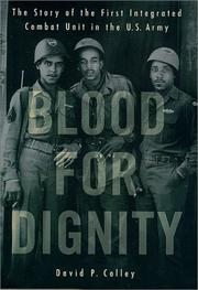 Cover of: Blood for Dignity | David P. Colley