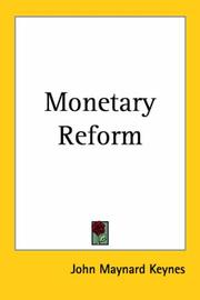 Cover of: Monetary reform