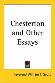 Cover of: Chesterton and Other Essays